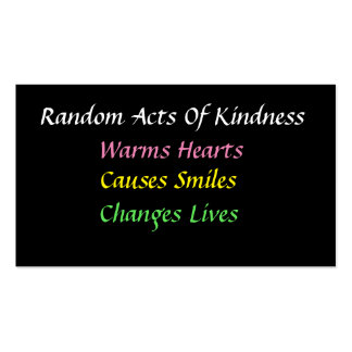 Simple Random Acts of Kindness Card Pack Of Standard Business Cards