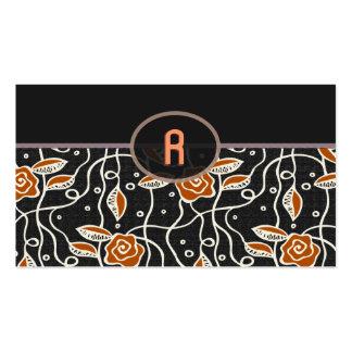 Simple Retro Pattern- Black & Orange Pack Of Standard Business Cards