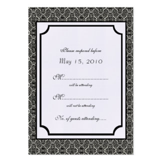 Simply Classic Damask RSVP Card Pack Of Chubby Business Cards
