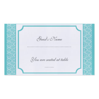 Simply Classic Damask Wedding Placecard Pack Of Standard Business Cards