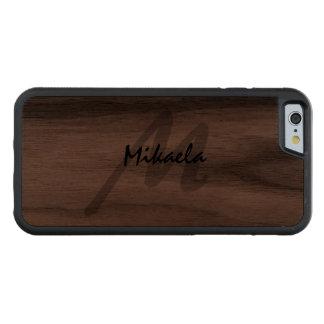 Simply Custom Personalized Monogrammed Walnut iPhone 6 Bumper Case