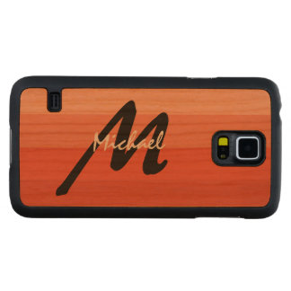 Simply Custom Striped Personalized Monogrammed Cherry Galaxy S5 Case