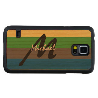 Simply Custom Striped Personalized Monogrammed Cherry Galaxy S5 Slim Case
