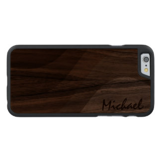 Simply Custom Toned Personalized Carved® Walnut iPhone 6 Case