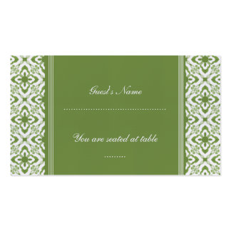 Simply Dazzling Damask Wedding Place Card Pack Of Standard Business Cards