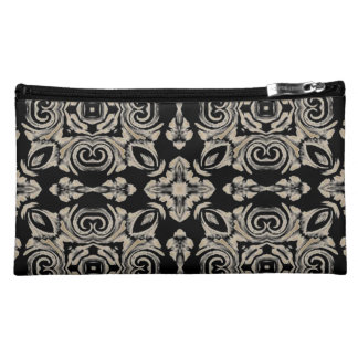 Simply Elegant Faux Lace Design Suede Cosmetic Bag