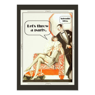 Simply Fabulous Art Deco Party 13 Cm X 18 Cm Invitation Card