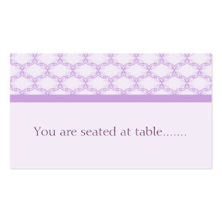 Simply Glamourous Wedding Placecard, Lavender Pack Of Standard Business Cards