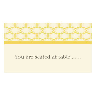 Simply Glamourous Wedding Placecard, Yellow Pack Of Standard Business Cards