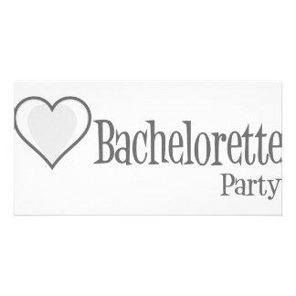 SingleHeart-BacheloretteParty-Grey Photo Greeting Card