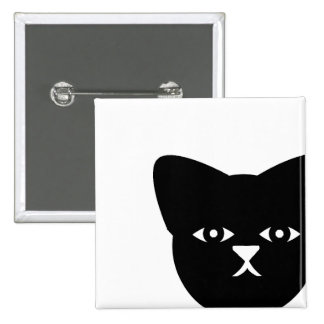 Sinister Cat 15 Cm Square Badge