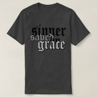 sinner saved by grace drk t var heather tee shirts