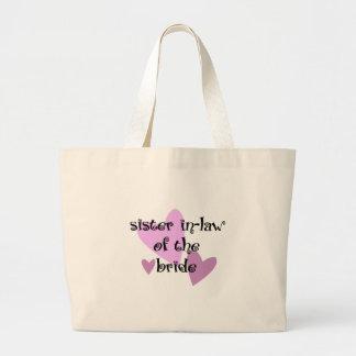 Sister In-Law of the Bride Jumbo Tote Bag