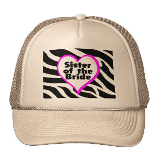 Sister of the Bride (Heart Zebra Print) Cap