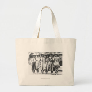 Six cowgirls at Cheyenne Frontier Days. Jumbo Tote Bag