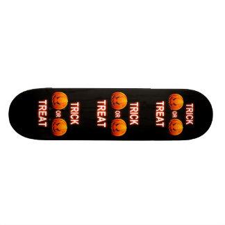 Skate Board Trick Or Treat Pumpkins