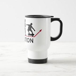 Skateboarding Evolution mug