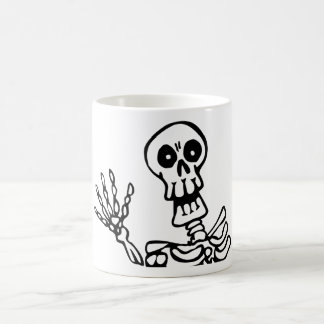 skeleton basic white mug