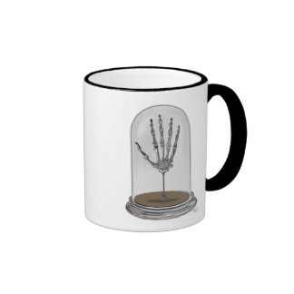 Skeleton Hand In Bell Jar 2 Ringer Mug