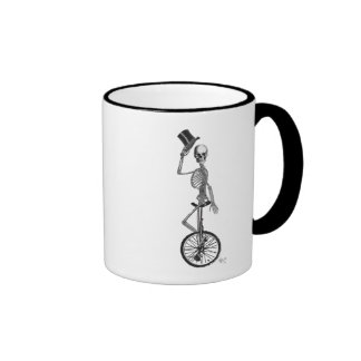 Skeleton on Unicycle Ringer Mug
