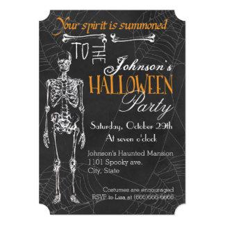 Skeleton Spirit Halloween Party Invitation