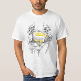 Sketched Chest Superman Logo Tee Shirts