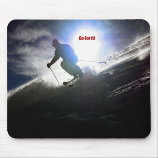 Skiing, Go For It! Mouse Pad