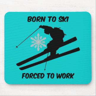 Skiing Mouse Pad