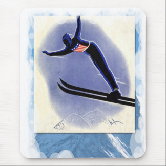 Skiing -Ski jumping competition Mouse Pad
