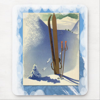 Skiing -Skis and slopes Mouse Pad