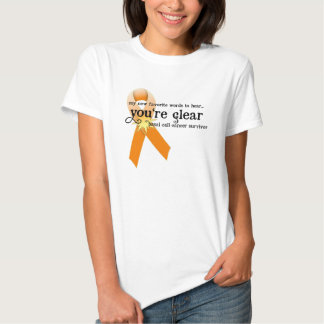 Skin Cancer Survivor D5 :: You're Clear Shirt