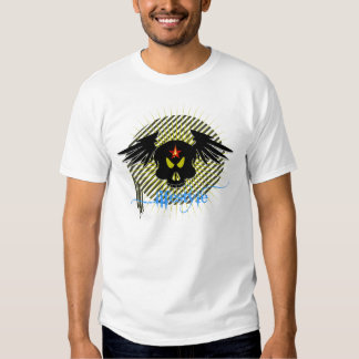 Skull with lifestyle in dark shirt