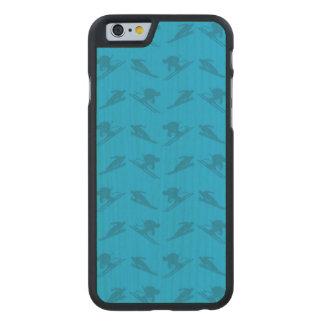 Sky blue ski pattern carved® maple iPhone 6 case