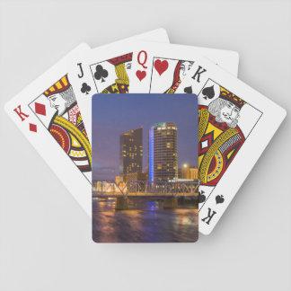 Skyline At Dusk, On The Grand River Card Decks