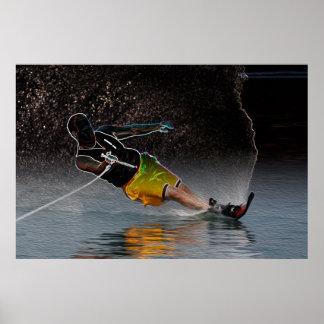 Slalom Waterskiing-Poster Art Poster