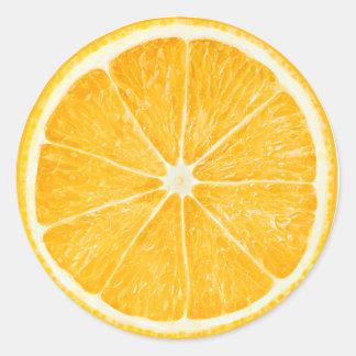 Slice of orange round sticker