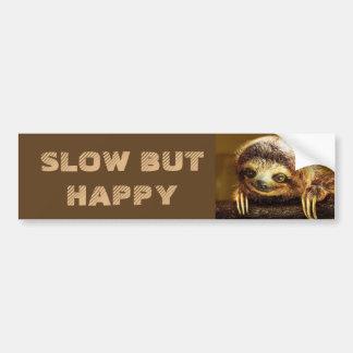 Slow but Happy Sloth Bumper Sticker