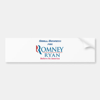 Small Business For Romney Ryan Bumper Sticker