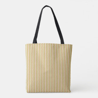 Small chevron pattern in natural colors tote bag