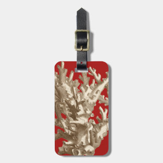 Small Coral in Red Luggage Tag