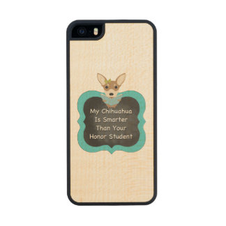 Smart Chihuahua Wood iPhone SE/5/5s Case