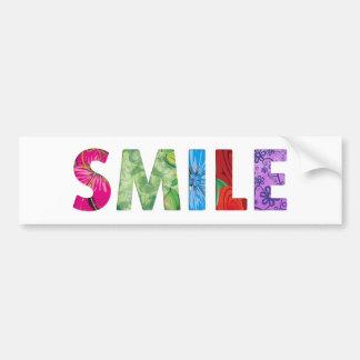 Smile Happy Quote 02 Bumper Sticker