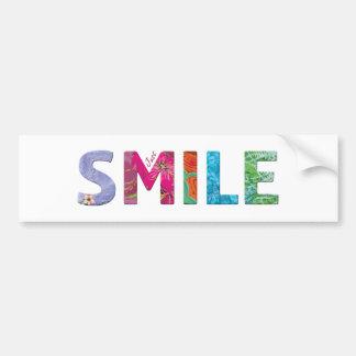 Smile Happy Quote 03 Bumper Sticker
