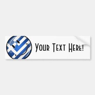 Smiling Greek Flag Bumper Sticker