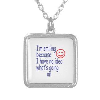 Smiling - No Idea Square Pendant Necklace