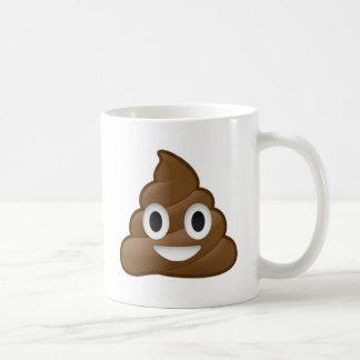 Smiling Poop Emoji Basic White Mug