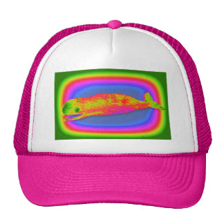 smiling psychedelic whale hat