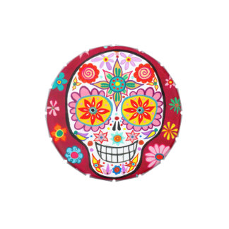 Smiling Sugar Skull Candy Tin - Day of the Dead