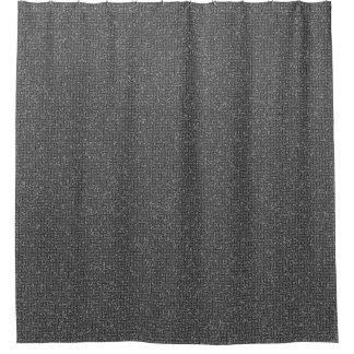 Smoky Gray Block Maze Abstract Pathway Art Shower Curtain