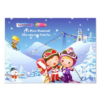 Snow Skiing Tots Invitation